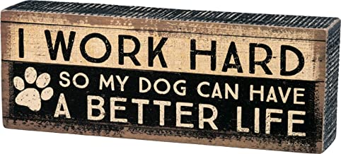 Primitives by Kathy 33724 Distressed Box Sign, Work Hard