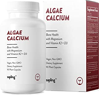 Calcium Supplement - Whole Food with Vitamin K2 & D3, Magnesium, Zinc, Boron, Mineral Complex. Sourced Sustainably from Re...