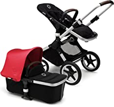 Bugaboo Fox Complete Full-Size Stroller, Neon Red/Black - Fully-Loaded Foldable Stroller with Advanced Suspension and All-Terrain Wheels