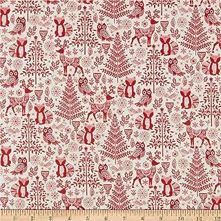 Andover/Makower UK Scandi 2019 Forest Animals Red Fabric