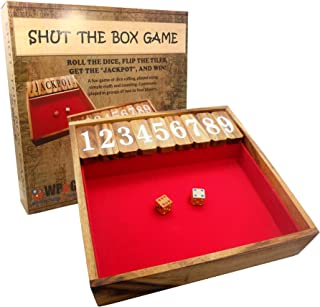Shut The Box Game Large, Wooden Old Fashioned Dice Fun Play for Adults Kids and The Family