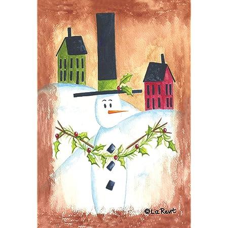 Amazon Com Toland Home Garden Snow Kid 28 X 40 Inch Decorative Winter Snowman Bird House Flag Garden Outdoor