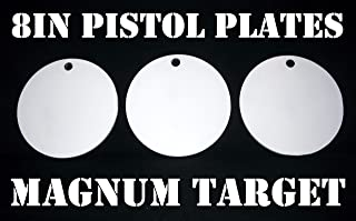 Steel Shooting Targets - 8 Inch Round Hangers - NRA Action Pistol Plates - 3 pcs