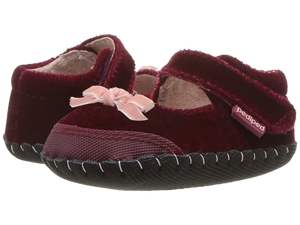 pediped Louisa Originals (Infant) (Burgundy) Girls Shoes