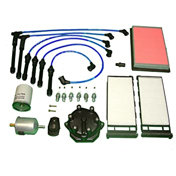 [NRIO_4796]   Amazon.com: Tune Up Kit Replacement for Infiniti QX4 1997 to 1998 Air Cabin  Fuel Oil PCV Filter Japanese made distributor cap and Ignition Rotor NGK  wires and Plugs: Automotive   Infiniti Qx4 Fuel Filter      Amazon.com