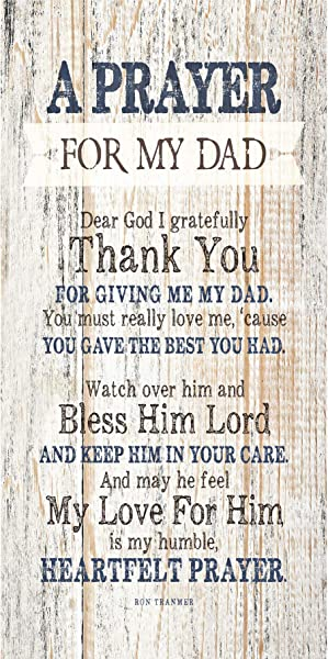 Dad Father Wood Plaque Inspiring Quotes 6 3 4 X 13 5 8 Classy Vertical Frame Wall Decoration Keyhole On Back For Hanging Dear God I Gratefully Thank You For Giving Me My Dad