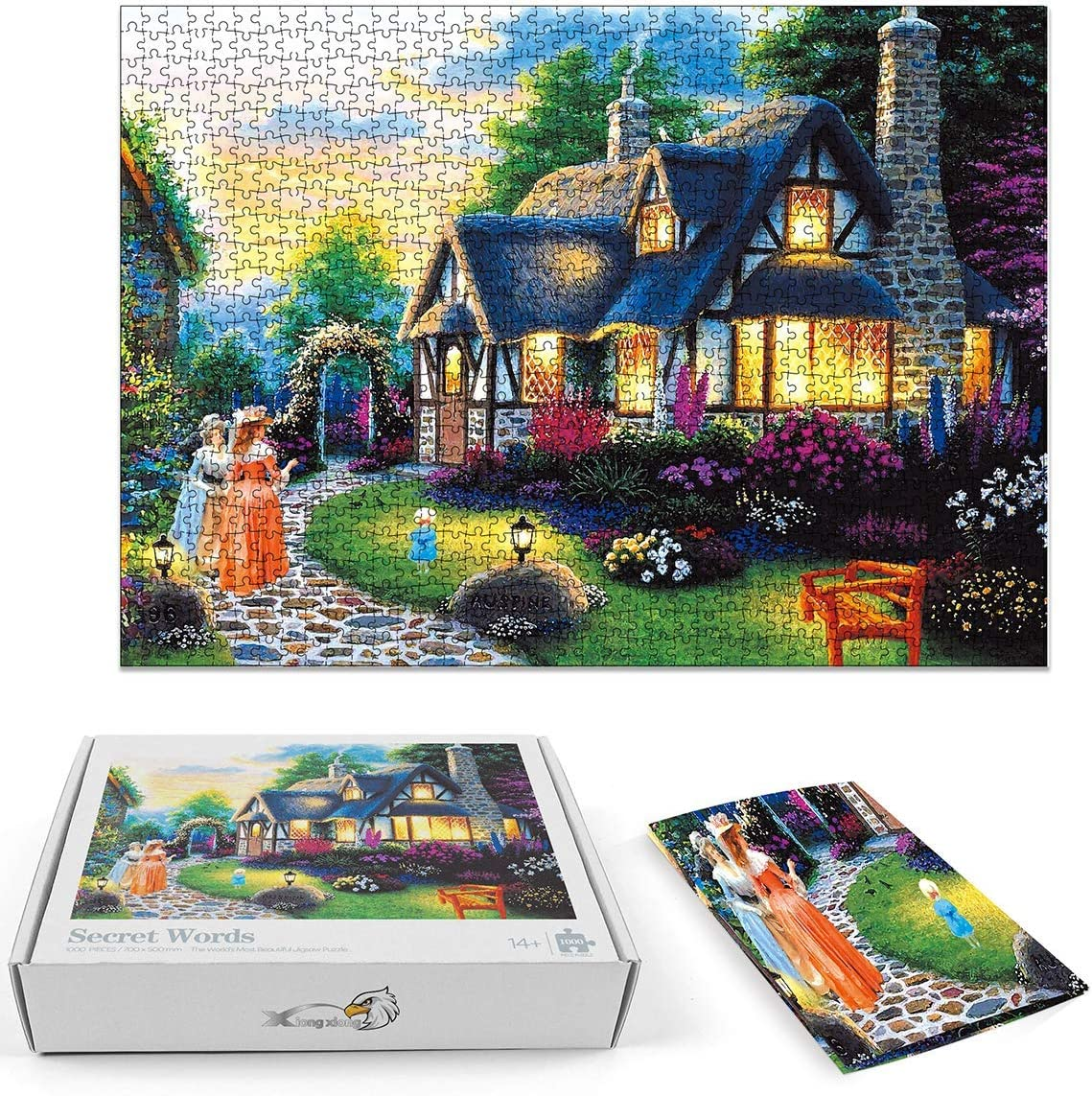19.2 x 19.2 Dream Flower God Difficult Challenge Educational Intellectual Decompressing Interesting Puzzle 500 Pieces for Adults Teens Fun Puzzles Games