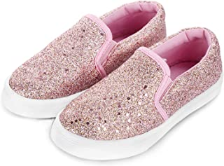 JOSINY Kids Shoes Slip On for Girls Boys - Casual Toddler Sneakers Lazy Tennis Loafers