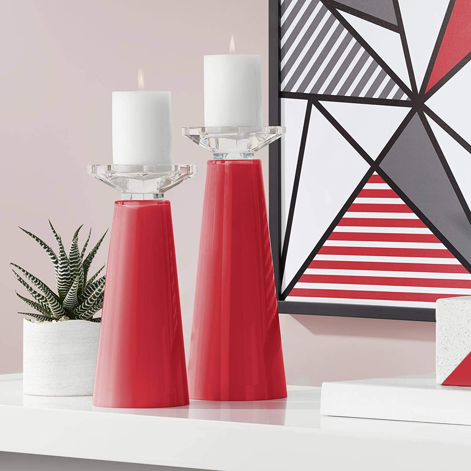 Sale SALE% OFF Color Ranking TOP2 + Plus Ribbon Red 2 Set Meghan Candleholders of