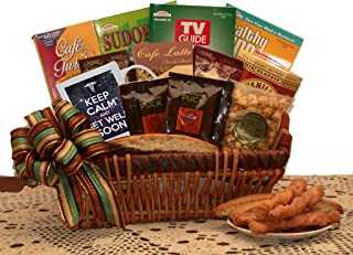 Get Well Gift Basket of Crossword Books and Coffee - get Well Gift - get Well Gift Basket