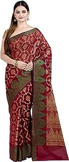 Chandrakala Women's Art Silk Indian Ethnic Banarasi Saree with Unstitched Blousepiece(1308)