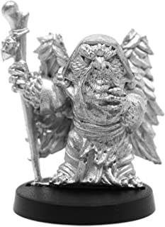 Stonehaven Male Owlfolk Wizard Miniature Figure (for 28mm Scale Table Top War Games) - Made in US
