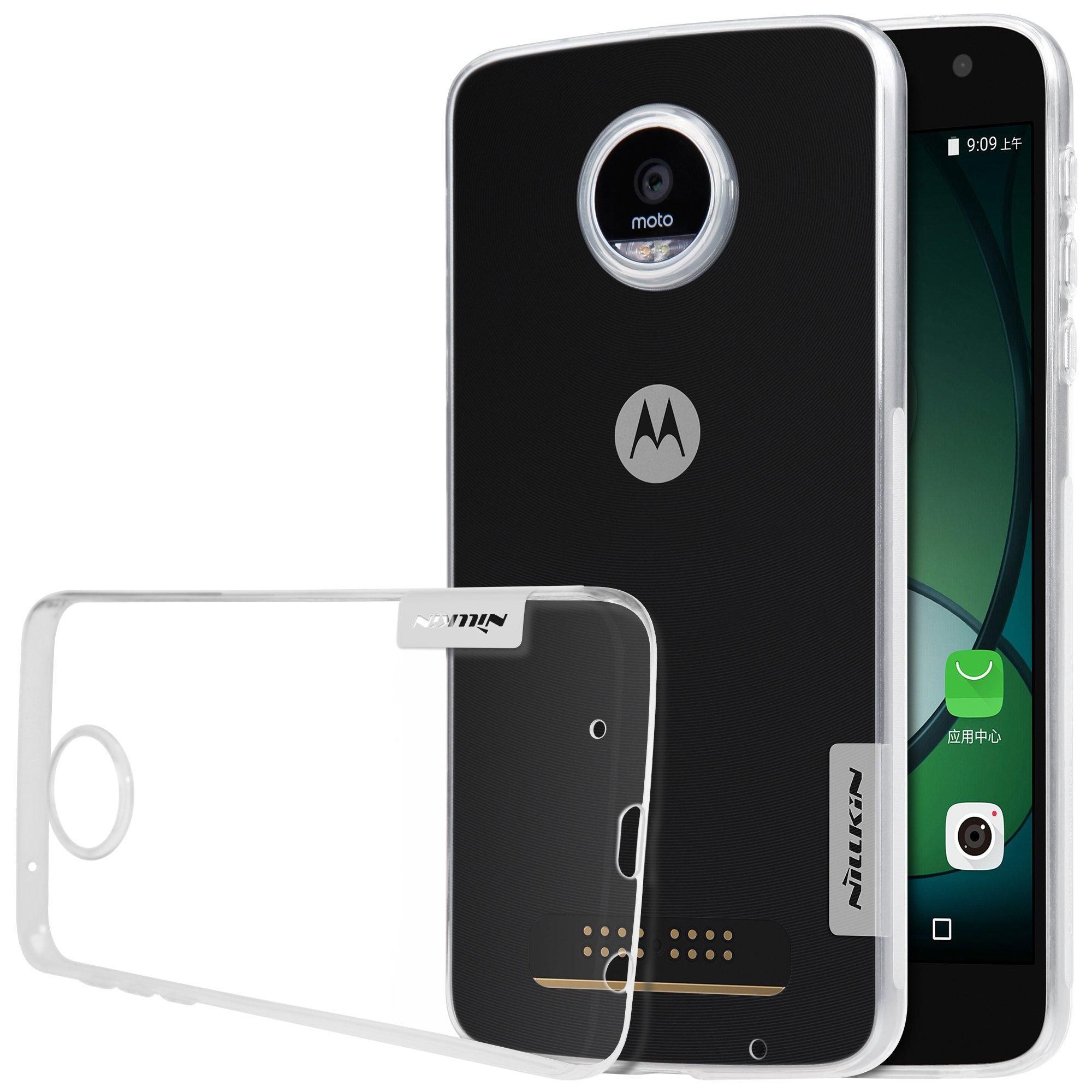 MYLB Caso de la cubierta protectora caso claro Volver TPU gel suave de parachoques del teléfono para Motorola Moto Z Play smartphone (Transparente): Amazon.es: Electrónica