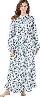 Women's Plus Size Long Flannel Nightgown