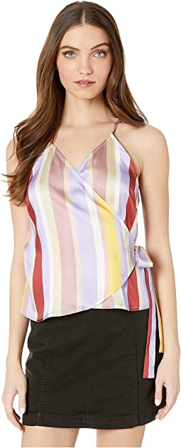 Multi Stripe Top with Tie