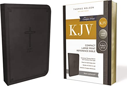 The Holy Bible: King James Version, Black Leathersoft Reference Bible: Red-Letter Edition