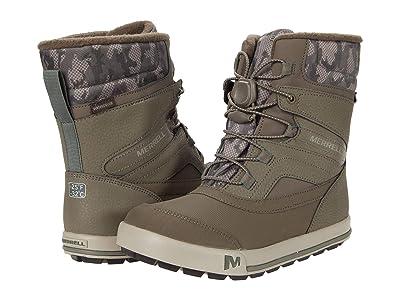 Merrell Kids Snow Bank 2.0 Waterproof (Toddler/Little Kid) (Gunsmoke/Camo) Boys Shoes