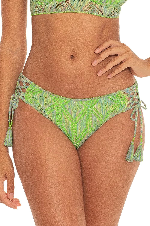Becca by Rebecca Virtue Women's Mosaics Emily Tie Side Hipster Bikini Bottom