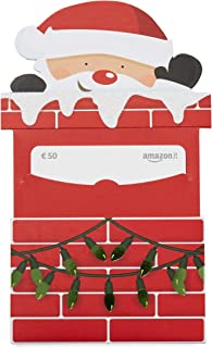 Buono Regalo Amazon.it - Busta babbo Natale caminetto