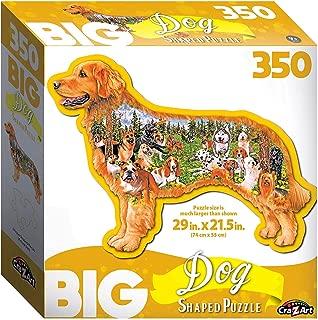 Big Shaped Dog Park 350 pc Dog Shaped Jigsaw Puzzle
