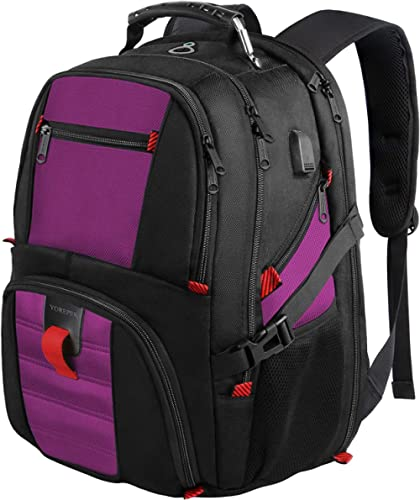 College Backpack, Extra Large Backpacks with USB Charging Port and Luggage Sleeve for Women and Men,TSA Friendly Trav...