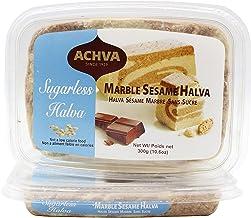 Achva Marble Sesame Sugarless Halva, 300 grams,Pack of 2