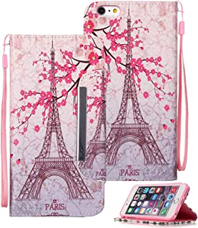 iPhone 6s Plus Case, iPhone 6 Plus Case, Etubby [Wallet Stand] New PU Leather Wallet Flip Protective Case with Card Slots and Wrist Strap for Apple iPhone 6 Plus (2014) iPhone 6s Plus (2015) - Paris