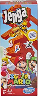 Jenga: Super Mario Edition Game, Block Stacking Tower Game for Super Mario Fans, Aged 8 and Up