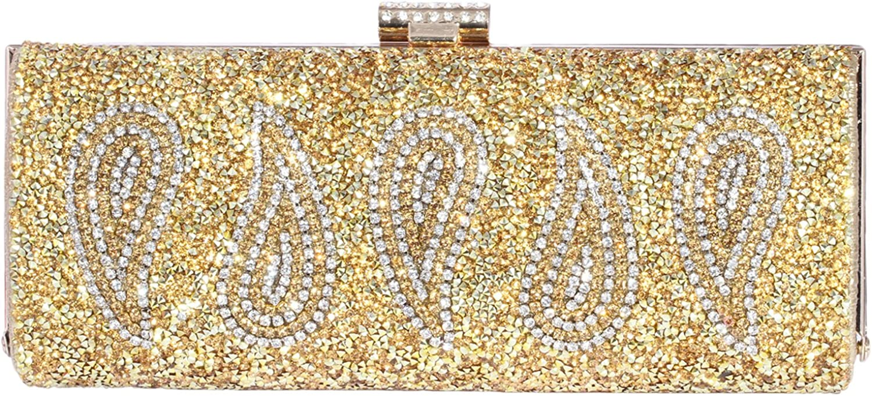 Digabi WaterDrop Pattern Rectangle Shape women Crystal Evening Clutch Bags