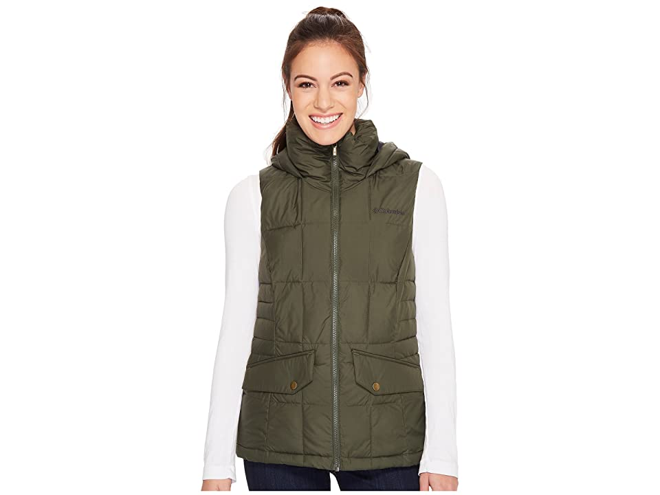Columbia Lone Creek Hooded Vest (Surplus Green) Women