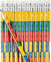 Fun Express Colored Block Brick Party Favor Pencils - 24 Piece Pack