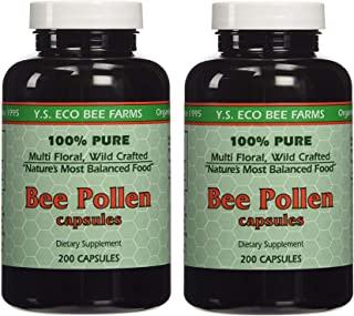 YS Organics Bee Pollen - 200 Capsules (Pack of 2)