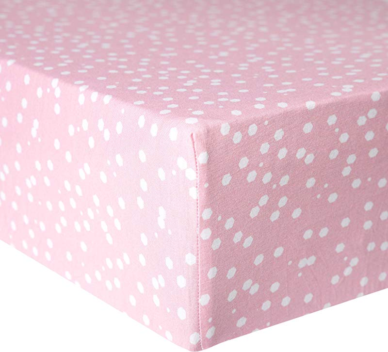 Premium Fitted Knit Crib Sheet Toddler Sheet Lucy By Copper Pearl
