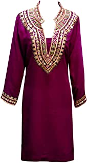 Desi Sarees Women's Indian Traditional Mandarin Collar Tunic Wedding Kurti Tunics Tops 7001