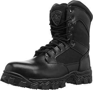 حذاء عمل Rocky Alpha Force 20.32 سم بسحاب جانبي من الفولاذ، أسود، 11 M US