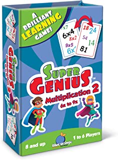 Blue Orange Super Genius - Multiplication 2 Card Game