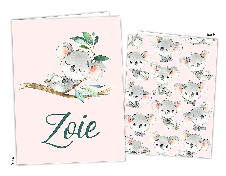Koala Pocket Folder Gift Name Long-awaited Back Of Portland Mall School to Supplies Teacher