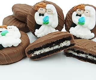 Philadelphia Candies Milk Chocolate Covered OREO Cookies, Bride and Groom Wedding Net Wt 8 oz