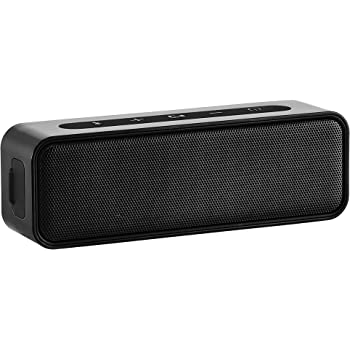 AmazonBasics 9-Watt Bluetooth Stereo Speaker with Water Resistant Design - Black