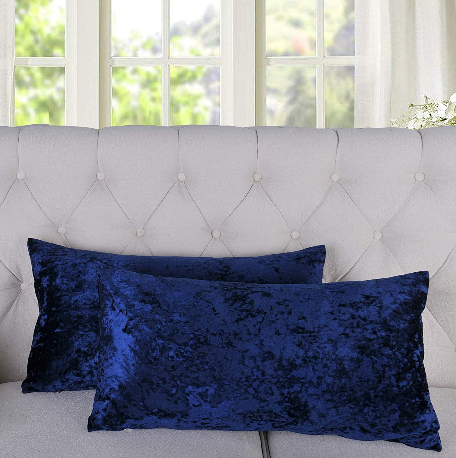 Home Soft Things Serenta Crushed Velvet Pillow Piece 2 Shell Set Super safety special price