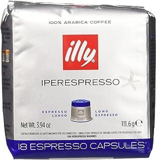 illy - Caffè Espresso In Capsule Iperespresso Lungo - 6 confezioni da 18 capsule (tot 108 Capsule)