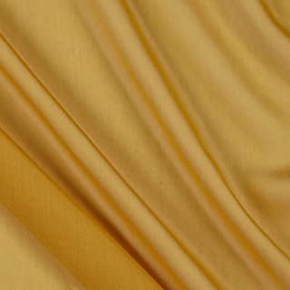 Ben Textiles Two Tone Chiffon Mustard Fabric by The Yard,