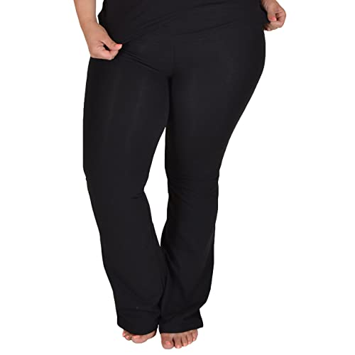 968ea48226d9c Stretch is Comfort Women s Foldover Plus Size Yoga Pants