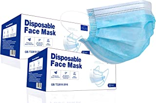 Virosa Extra VALUE 3 Layer Face Masks | PACK of 100 | Comfortable, Protective and Suitable For Sensitive Skin – Blue