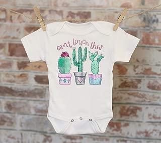Can't Touch This Onesie®, Funny Onesie, Cute Onesie, Cactus Onesie, Cute Baby Bodysuit, Boho Baby Onesie, Girl Onesie