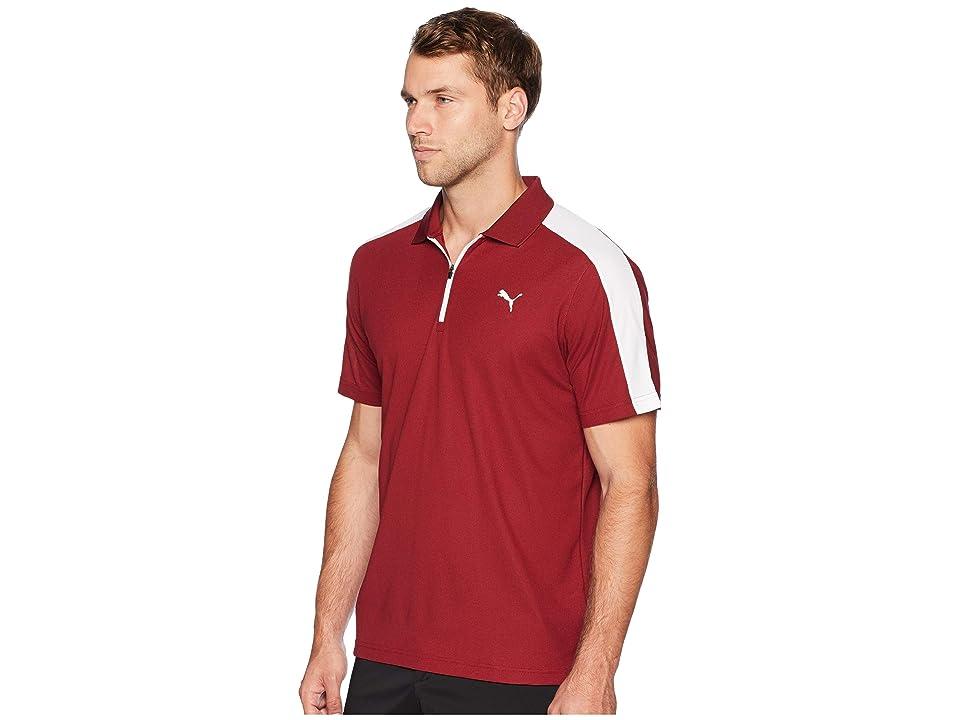 PUMA Golf T7 Golf Polo (Pomegranate) Men