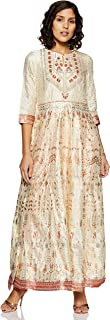 W for Woman Key Hole Neck Embroidered Maxi Dress for Women