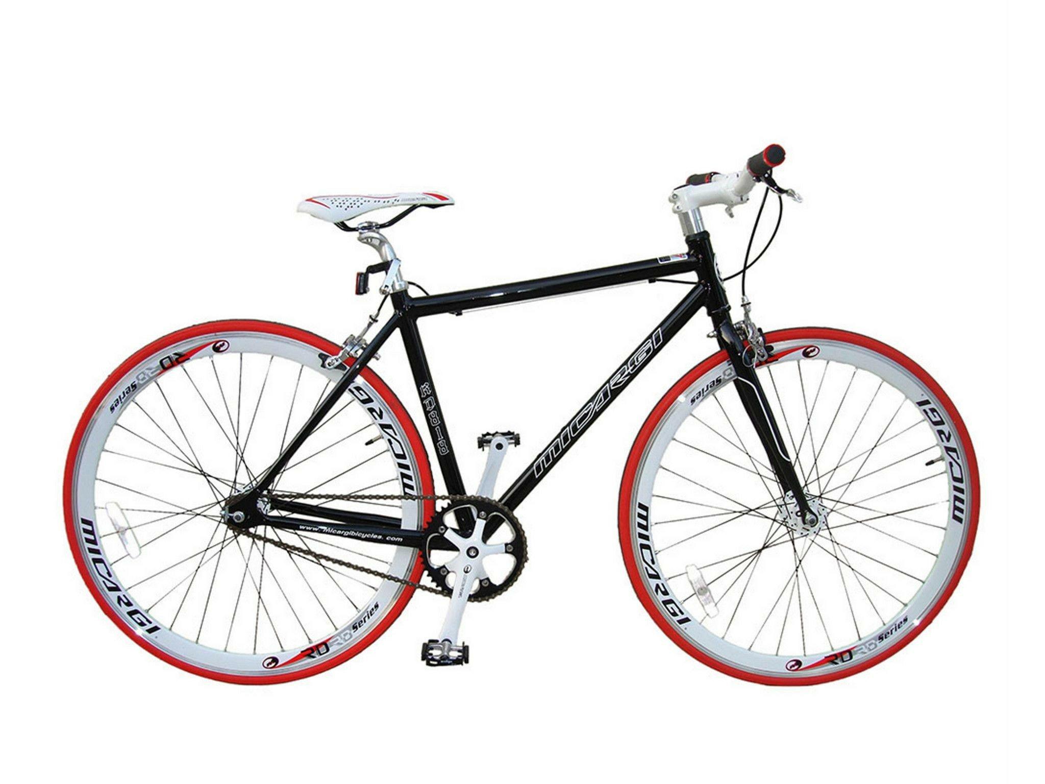 micargi rd818 700 C Fijo Rueda Bicicleta de carretera fixie sola velocidad buje flip flop 48 cm marco de aleación negro 10,2 kg: Amazon.es: Deportes y aire libre