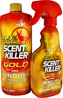 Wildlife Research Scent Killer Gold Spray Combo Pack,...