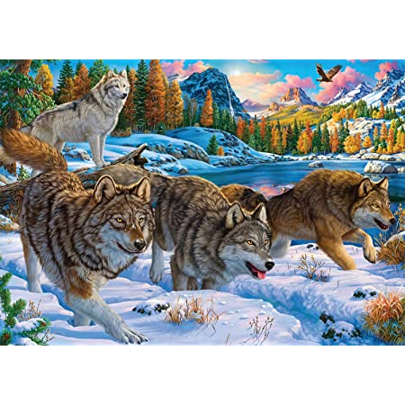 Running with The Pack 500 Piece Jigsaw Puzzle Buffalo Games